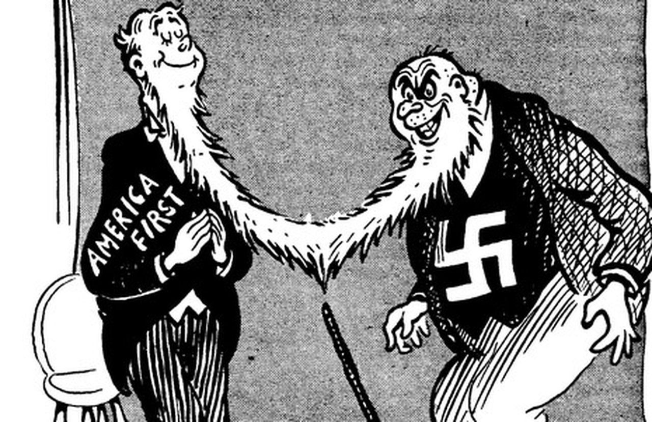 Theodor Geisel America First Nazi Cartoon