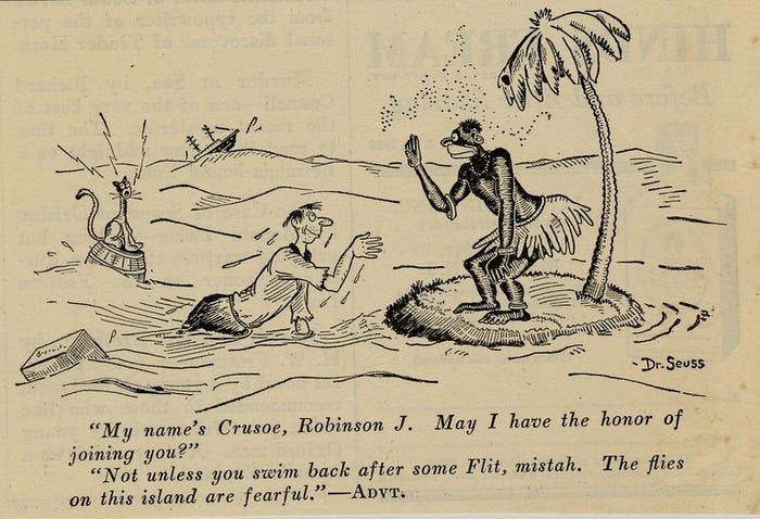 Theodore Geisel Racist Island Cartoon